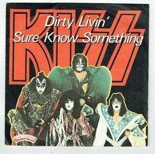 "KISS Vinyle 45T 7"" DIRTY LIVIN' - SURE KNOW SOMETHING Hard Rock CASABLANCA 1226"