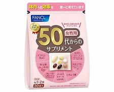 FANCL Supplement from 50's, HTC collagen, Q10, Astaxanthin, DHA, Calcium (30day)