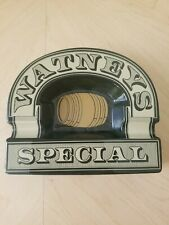 Rare - Large Vintage Watneys Special Ceramic Ashtray By Wade - 1970s