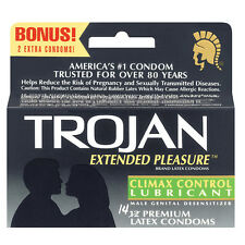 Trojan Extended Pleasure Condoms with Climax Control Lubricant FREE Shipping