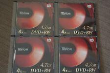 4 x Tevion DVD + RW 4.7 GB Single Sided DVDs