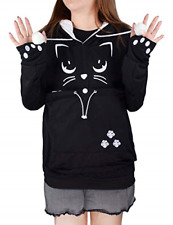 Unisex Pet Holder Hoodie Sweatshirt Big Pouch Cat Dog Carriers Long Design Use