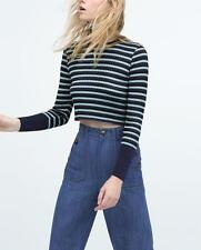 Zara Viscose Striped Jumpers & Cardigans for Women