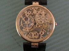 PATEK PHILIPPE 18K RARE SKELETON AUTOMATIC WRISTWATCH FULL BOX SET FOR COLLECTOR