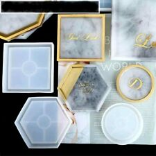 Hexagon Coaster Resin Casting Mold Silicone Jewelry Pendant Making Mould Craft