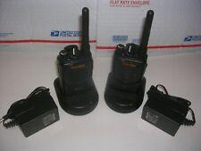 Motorola Pair Uhf Mag One Bpr40 Handie Talkie Portable 2 Way Radios On Same Chan