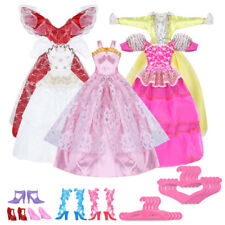 Handmade Dress Wedding Party Mini Gown Stylish Clothes For Barbie Doll Hot