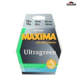 Maxima Fishing Line One Shot Spool, Ultragreen, 30-Pound/250-Yard