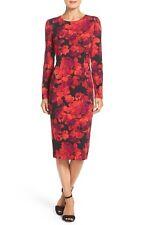NEW!$138 Maggy London Tie Dye Print Crepe Midi Sheath Dress.SZ: 8