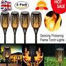UK 4X Solar Torch Garden LED Light Dancing Flickering Flame Landscape Waterproof