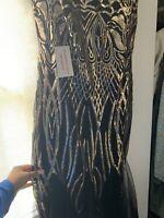 Womens Long Maxi Dress Night Sequin Bateau Sleve Flapper Mermaid Dress