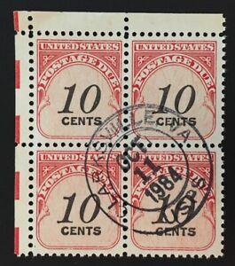 Clarksville, Virginia Oct 11, 1984 Circular Hand-Stamp Cancel #J97 Block of 4