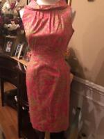 Lilly Pulitzer Women's Hotty Pink Lulu Faille Shift Dress 2 (DR1000