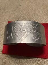 New listing Ww2 Trench Art Aluminum Philippine 1945 Remember Sweetheart Bracelet