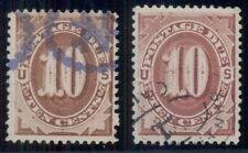 Us #J19, J26 10¢ Postage Dues, used, Vf & Xf, Scott $65.00