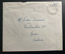 1957 Belgium Forces Military Post Office 4 In Siegburg Germany cover Back Seal