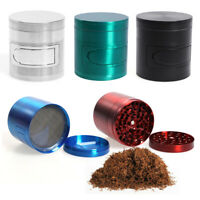 "Multi Functional Alloy Metal Herb Grinder Tobacco Grinder 4 Parts 62MM"" Gri #UK"