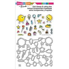 New Stampendous Cling rubber stamps & Dies set Fran'S Everyday Chicks