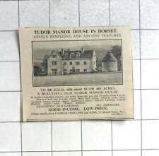 1936 Tudor Manor House 16 Miles Yeovil, With Ancient Chapel, 50 Acres For Sale