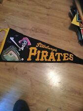 Vintage 1960's PITTSBURGH PIRATES FULL SIZE FELT PENNANT