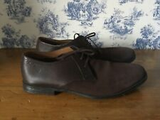 Mens CLARKS 1825 Brown Distressed Suede & Leather Lace Up Shoes Size UK 10