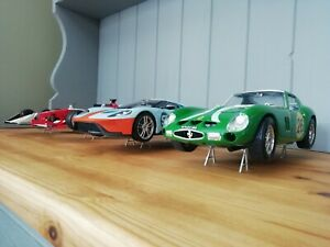 5x silver 1:18 scale Model display stands  jacks car garage diorama minichamps