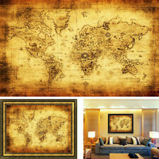 70X50CM Vintage Style Cloth Poster Globe Old World Nautical Map Gifts Elegant