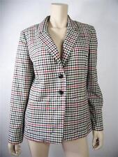 LIZ CLAIBORNE NewYork Red Brown Black Career Polyester Blazer Jacket Size 12