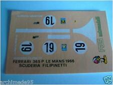 FERRARI 365 P LE MANS 1966 FILIPPINET. RARE DECALS 1/43