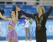 CHARLIE WHITE & MERYL DAVIS '14 OLYMPICS' GOLD MEDAL SIGNED 8X10 PICTURE *COA 4