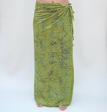 NEW EXTRA LARGE LONG UNISEX PREMIUM QUALITY GECKO LIME GREEN SARONG BNIP/saL503P
