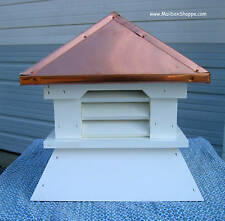 "Small 16"" Vinyl Shed Cupola - Real copper roof or painted aluminum in 4 colors."