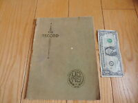 YEARBOOK 1937 AMHERST OHIO HIGH SCHOOL THE RECORD STUDENTS