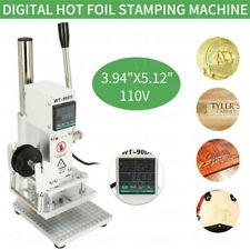 Hot Foil Stamping Machine Bronzing Leather PVC Logo Press Embossing 110V / 220V