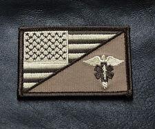 MEDIC EMT EMS USA FLAG TACTICAL COMBAT MORALE 3 INCH VELCRO® BRAND PATCH