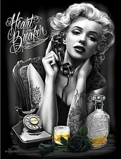 Marilyn Monroe Heartbreaker DGA David Gonzales Art Poster 18 x 24