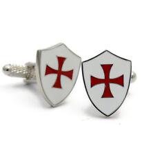 Maltese Cross on Shield Cufflinks Crusades Knights Templar CK806