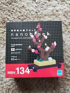 Nanoblock - Plum Bonsai Miniature Building Blocks - New Sealed Pk NBH 134