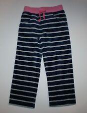 New Mini Boden Velour Sweatpants Gray Navy Striped Pants 3 4 Year 3T NWT Pant
