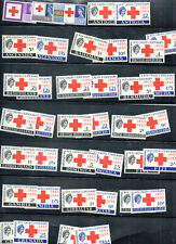 Stamps BCW,1963 Red Cross Centenary,near 50 countries,MNH,CHARITY DONATION.