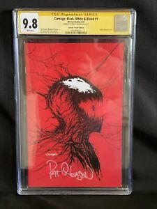 Carnage Black White and Blood #1 Gleason Virgin CGC SS 9.8 Signature