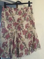 Size 12 Silk And Cotton Lightweight Pretty Lined Floral Skirt