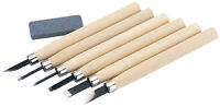 Genuine DRAPER Wood Carving Set with Sharpening Stone (7 Piece) | 31777