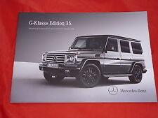 """MERCEDES W463 G-Klasse G350 G500 """"Edition 35"""" Sondermodell Prospekt von 2014"""