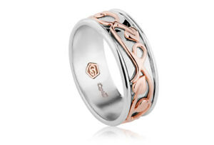 NEW Official Welsh Clogau Silver & Rose Gold Tree of Life Ring £90 OFF! SIZE P