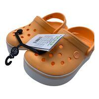 Crocs Crocband Platform Clog ~  Size C12 / Childrens 12 ~ Peach ~ NEW ~ RARE