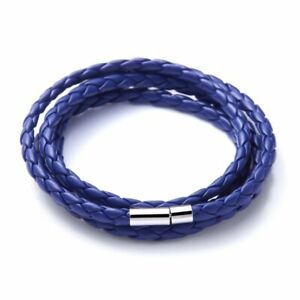 Chic Punk Genuine Leather Braided Magnetic Clasp Bracelet Wristband Party Gift