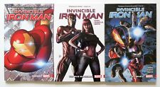 Invincible Iron Man Vol. 1 2 & 3 Marvel Graphic Novel Comic Book Lot of 3