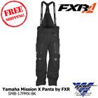 Yamaha Mission X Pant by FXR Black Snowmobile Pant Sizes - SMB-17PMX-BK