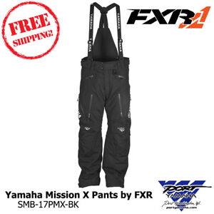 Yamaha Mission X Pant by FXR Black Snowmobile Pant Sizes - SMB-17PMX-BK